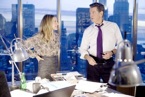 Pierce Brosnan and Sarah Jessica Parker in I Don't Know How She Does It