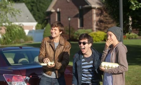 The Fault in Our Stars Ansel Elgort Shailene Woodley Nat Wolff