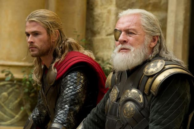 Thor The Dark World Anthony Hopkins Chris Hemsworth