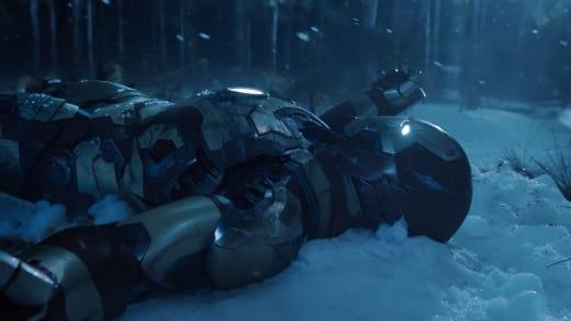 Iron Man in the Snow Iron Man 3