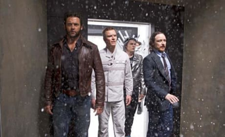 X-Men Days of Future Past Evan Peters Hugh Jackman
