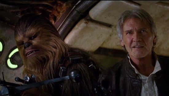 Star Wars The Force Awakens Han Solo Chewbacca