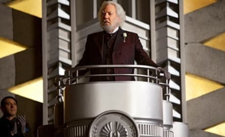 Donald Sutherland in The Hunger Games