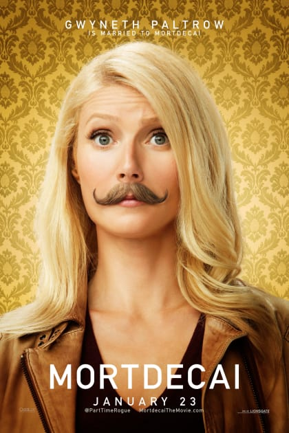 Gwyneth Paltrow With Mustache