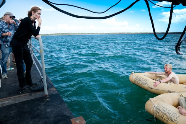 Angie Directs at Sea