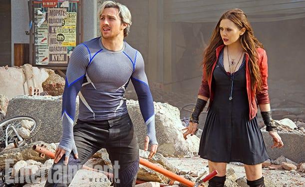 Avengers Age of Ultron Aaron Taylor Johnson Elizabeth Olsen