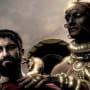Gerard Butler and Rodrigo Santoro in 300