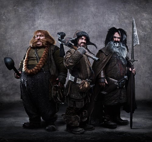 Warrior Dwarfs from The Hobbit