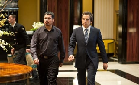 Michael Pena and Ben Stiller in Tower Heist