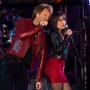 Jon Bon Jovi and Lea Michele in New Year's Eve