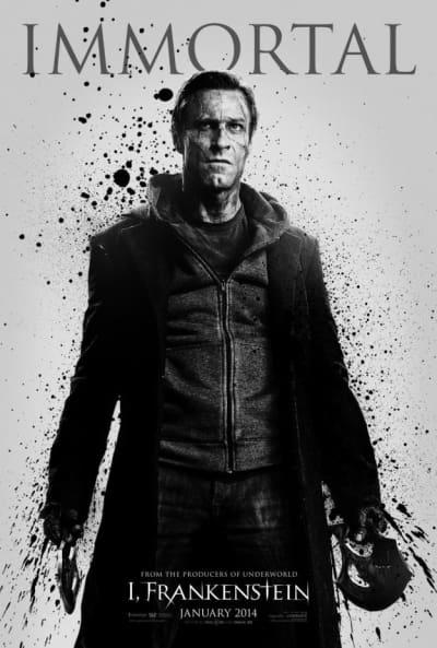 I, Frankenstein Aaron Eckhart Poster