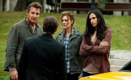 Liam Neeson, Famke Janssen and Maggie Grace in Taken 2