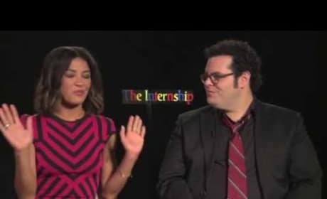Jessica Szohr and Josh Gad -- The Internship Interview