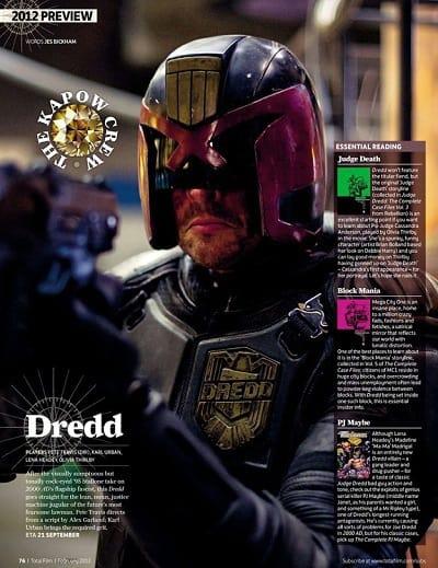 Karl Urban in Judge Dredd