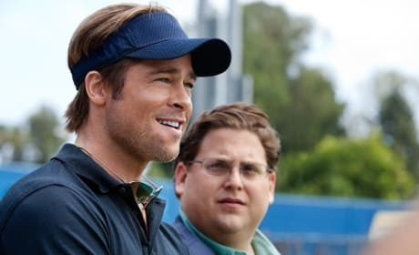 Jonah Hill and Brad Pitt in Moneyball