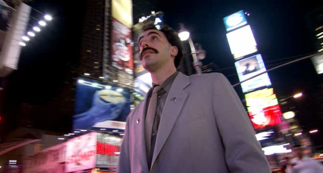 Borat in Times Square