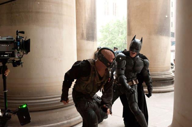 The Dark Knight Rises Bane Batman Fight Photo