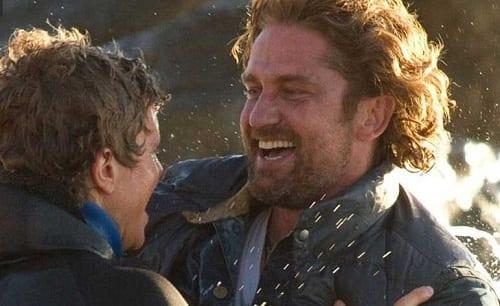 Jonny Weston Gerard Butler in Chasing Mavericks