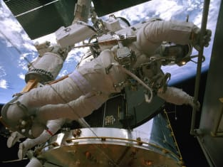 Astronaut Out on a Space Walk