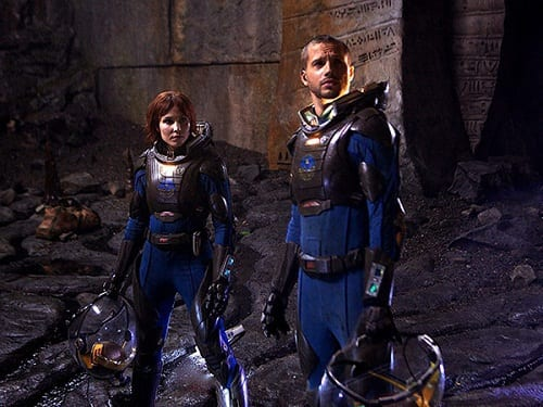 Noomi Rapace and Logan Marshall-Green in Prometheus