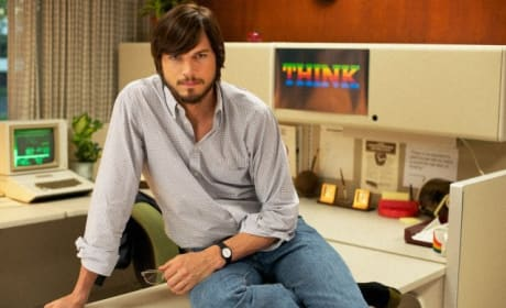 Ashton Kutcher as Steve Jobs in jOBS