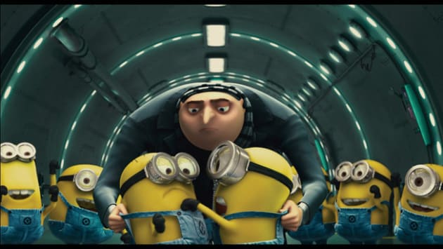 Gru and the Minions in the Tunnel