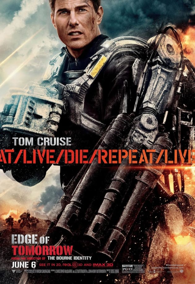 Edge of Tomorrow Tom Cruise Character Poster