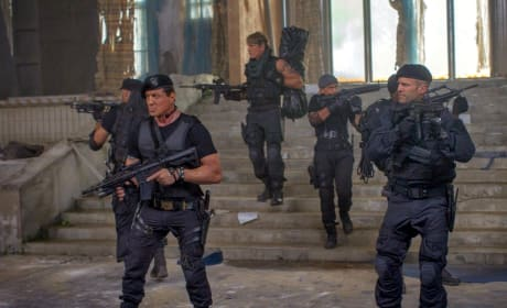 The Expendables 3 Jason Statham Sylvester Stallone