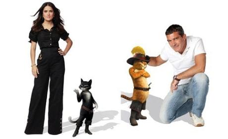 Salma Hayek and Antonio Banderas in Puss in Boots
