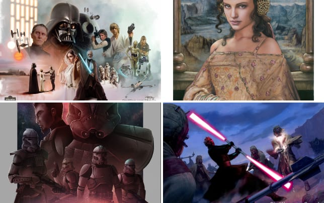 Star wars character painting
