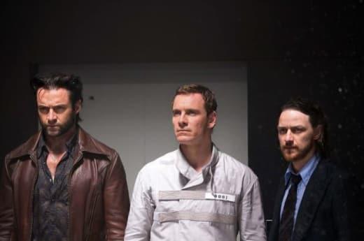 Hugh Jackman Michael Fassbender James McAvoy X-Men: Days of Future Past