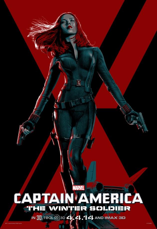 Captain America The Winter Soldier IMAX Scarlett Johansson Poster