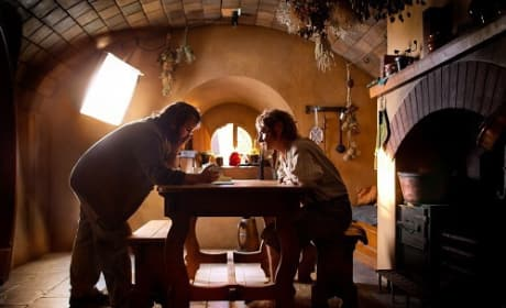 Peter Jackson and Martin Freeman The Hobbit