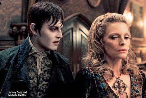 Johnny Depp and Michelle Pfeiffer in Dark Shadows
