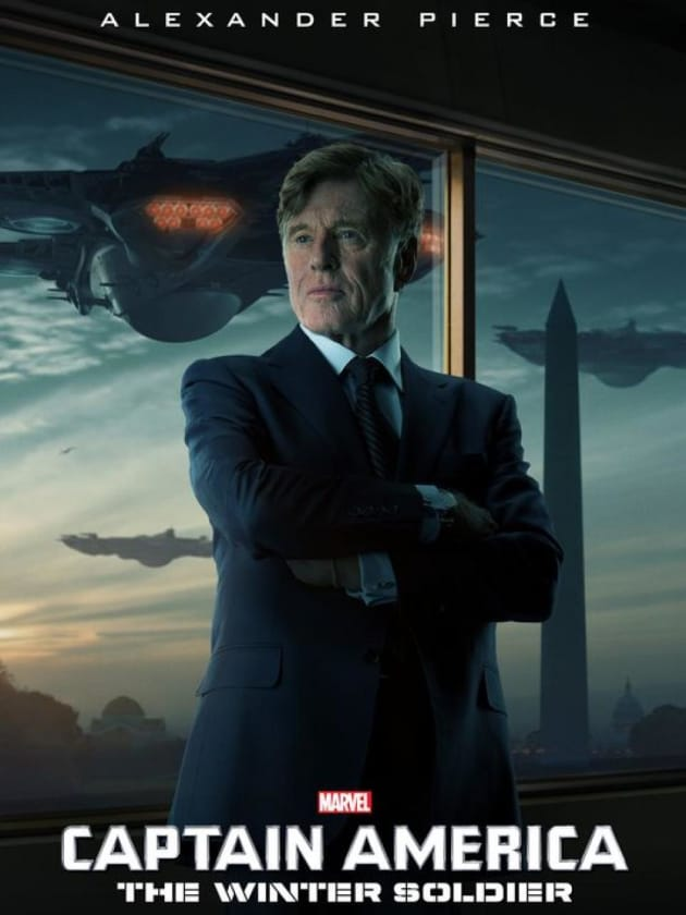 Captain America The Winter Soldier Robert Redford Poster