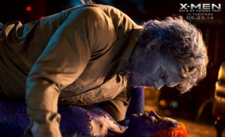 X-Men Days of Future Past Photos: Mystique Threatens Magneto!