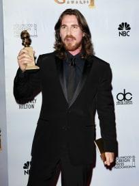 Golden Globe Winner Christian Bale