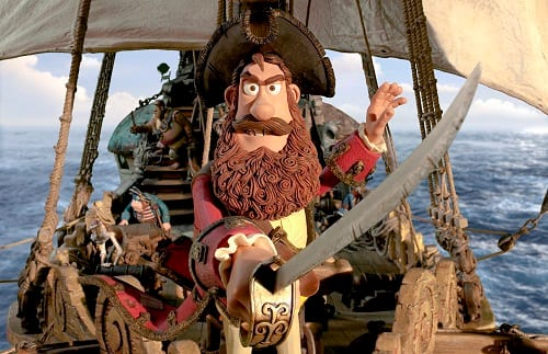 Hugh Grant in Pirates! A Band of Misfits