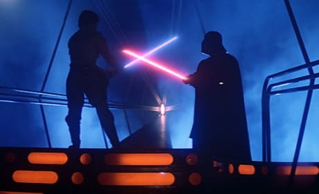 Luke and Vader Duel