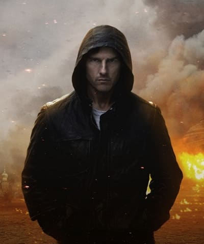 Tom Cruise in Mission Impossible 4