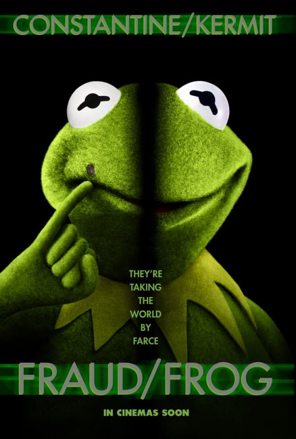 Muppets Most Wanted Frog Off Poster