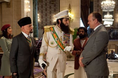 The Dictator Still: Cohen with Kingsley and Reilly