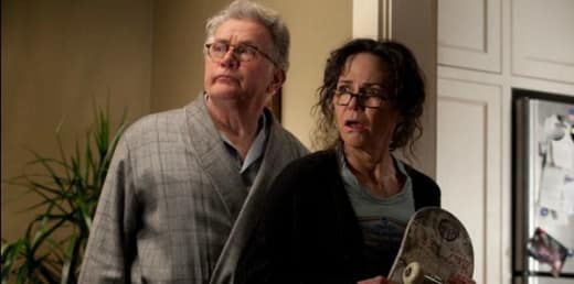 Martin Sheen and Sally Field in The Amazing Spider-Man