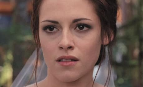 Kristen Stewart as Bella in Breaking Dawn