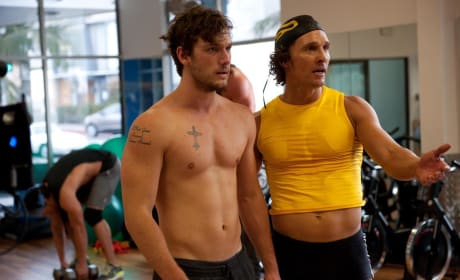 Alex Pettyfer and Matthew McConaughey Magic Mike