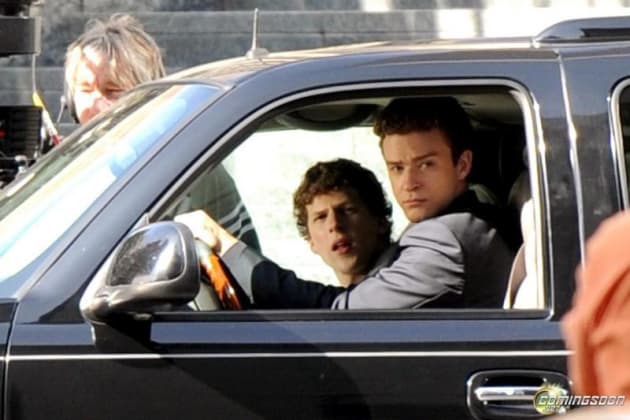Jesse and JT in the Escalade