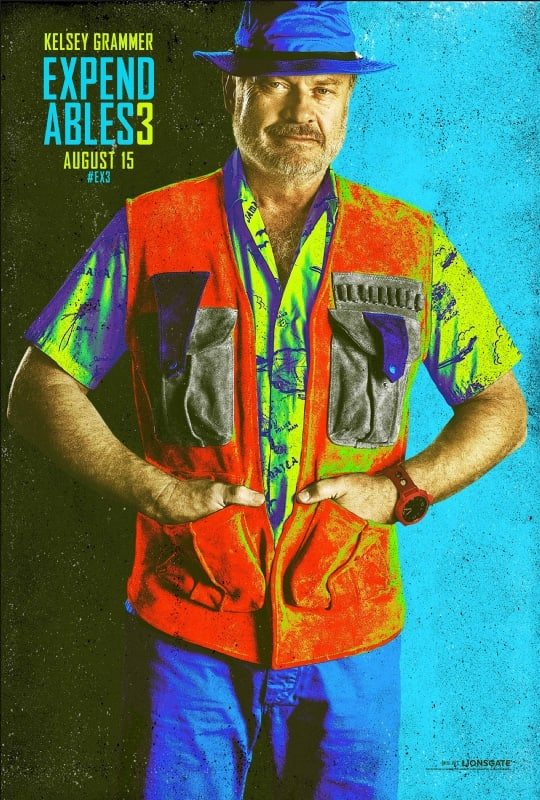 The Expendables 3 Kelsey Grammer Comic Con Poster