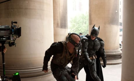 The Dark Knight Rises Bane Batman Fight Photo