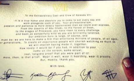 Star Wars Episode VII Thank You Note