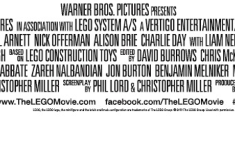 The LEGO Movie Credits Banner